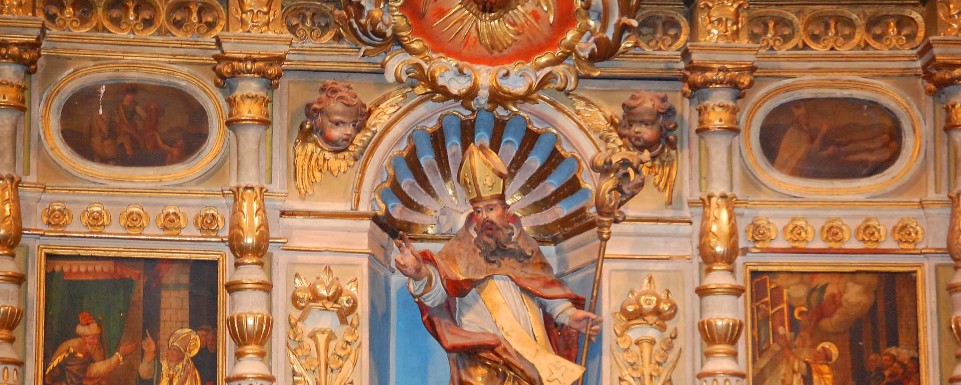Détail baroque d'une chapelle de Cerdagne