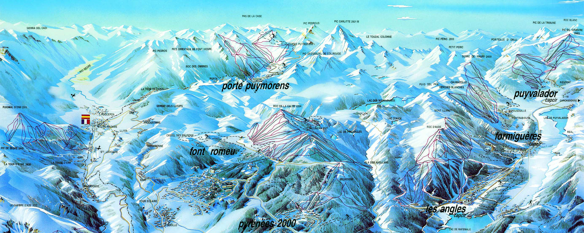 Carte des neiges catalanes