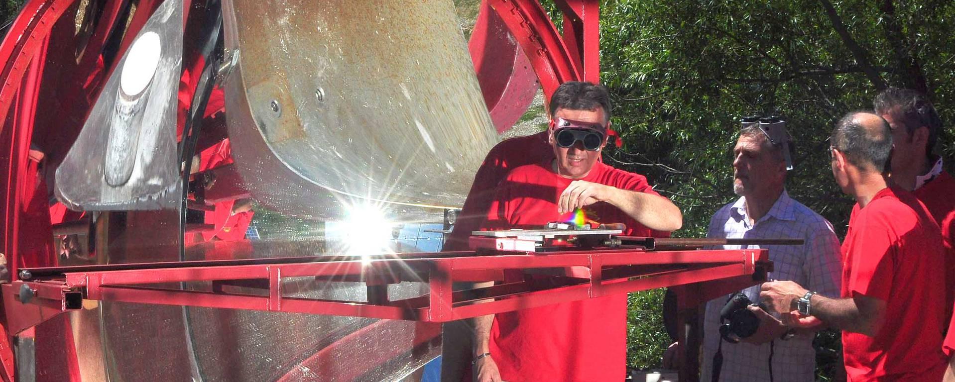 Expérience au four solaire d'Odeillo © F. Berlic