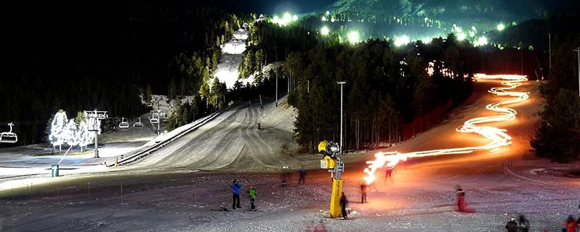 Ski de nuit à Massela
