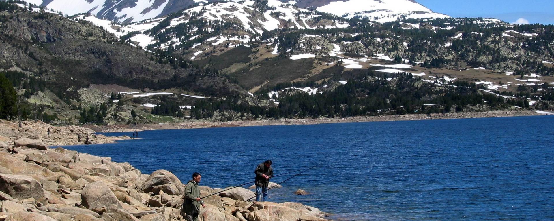 Ouverture de la pêche en lac de montagne, Pyrénées Cerdagne