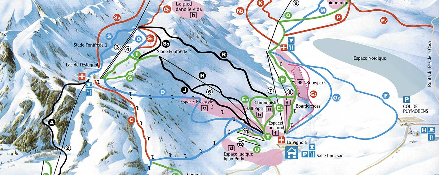 Plan dof the pistes