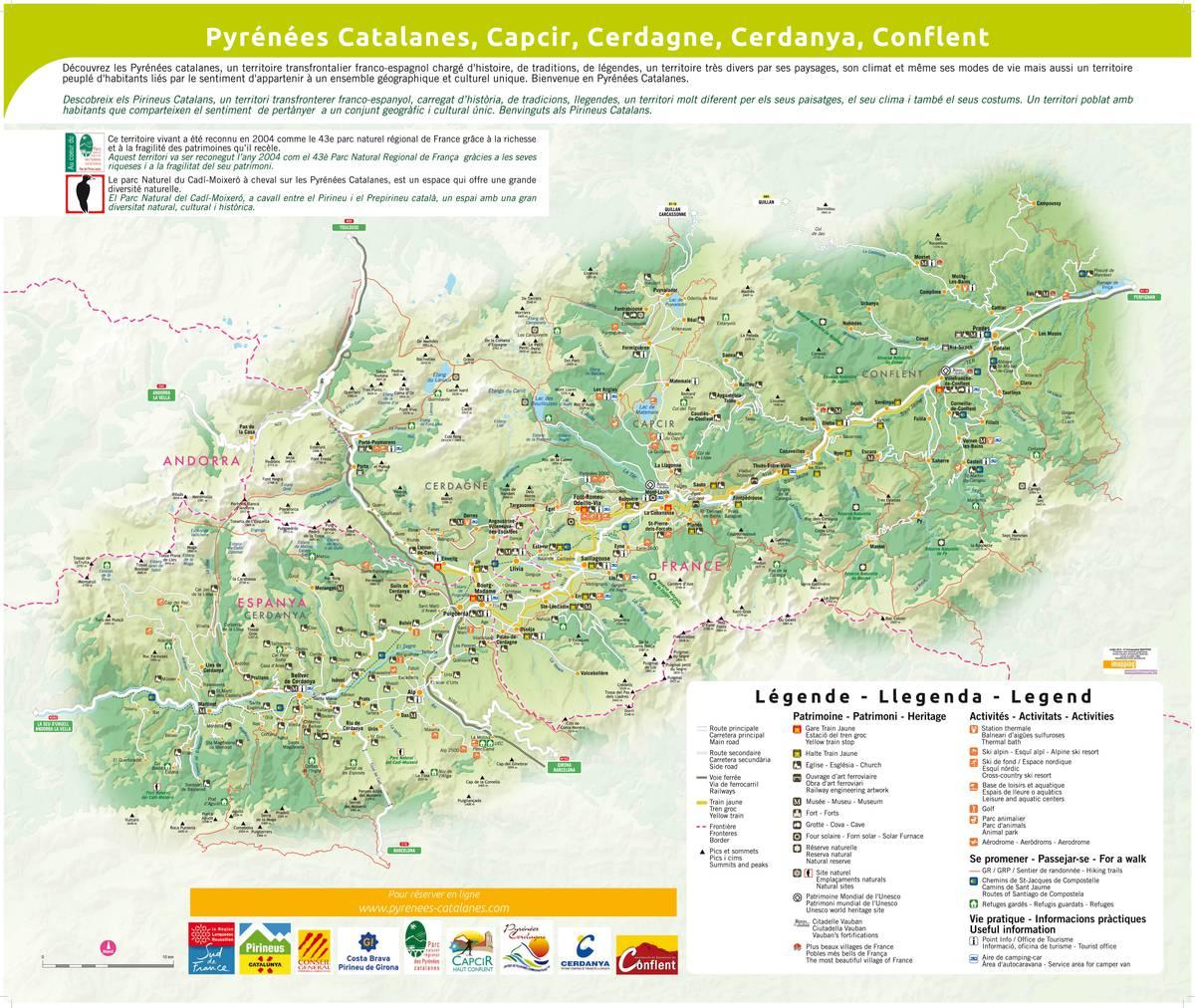 parc des pyrenees catalanes carte de france