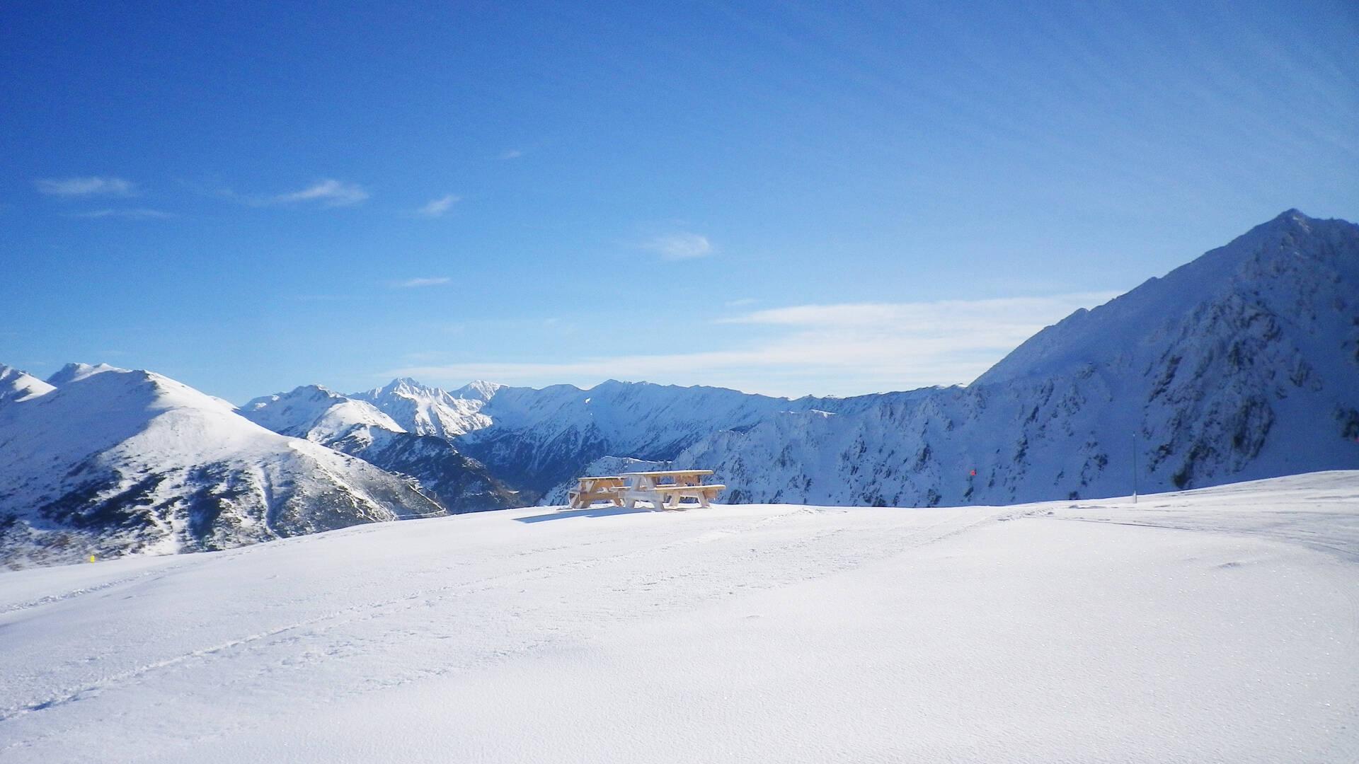 Station de Porté-Puymorens, piste de la Panoramique