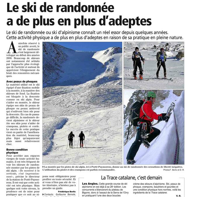 Ski hiking - press article