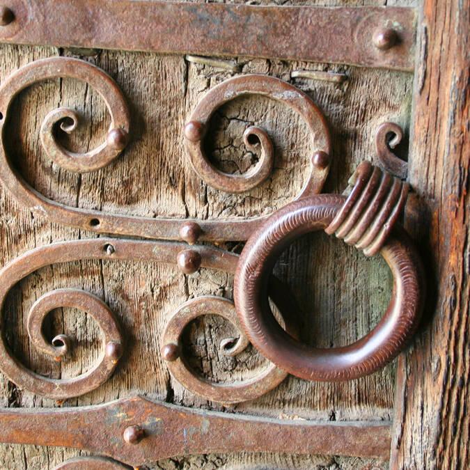 Détail de poignée d'église © F. Berlic