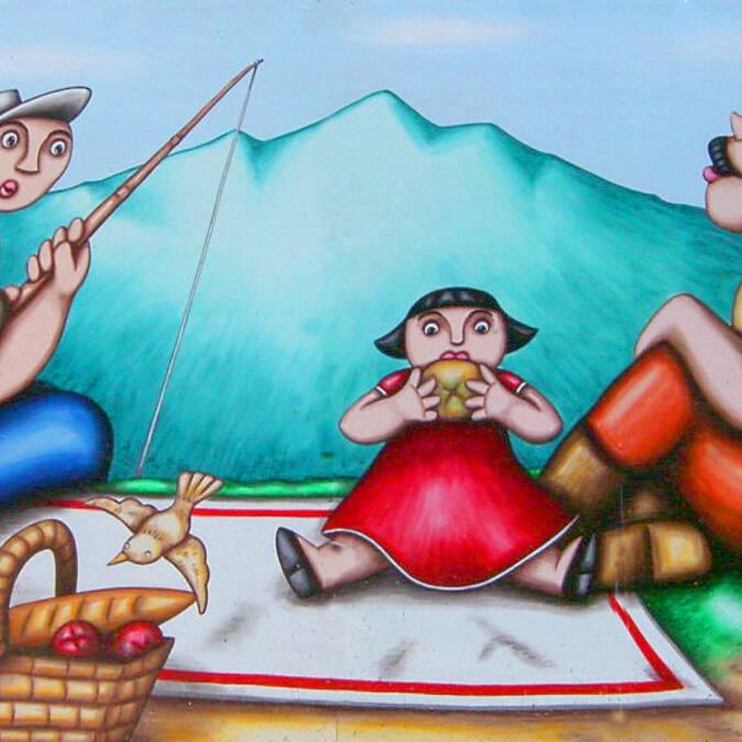 une partie de la frise murale des Pritchard's à Saillagouse
